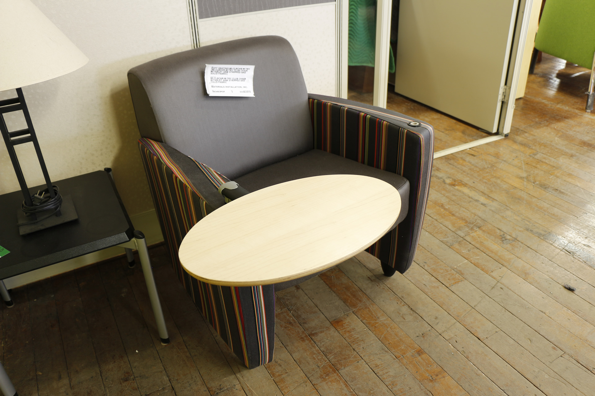 haworth todo lounge chairs with tablet peartree office