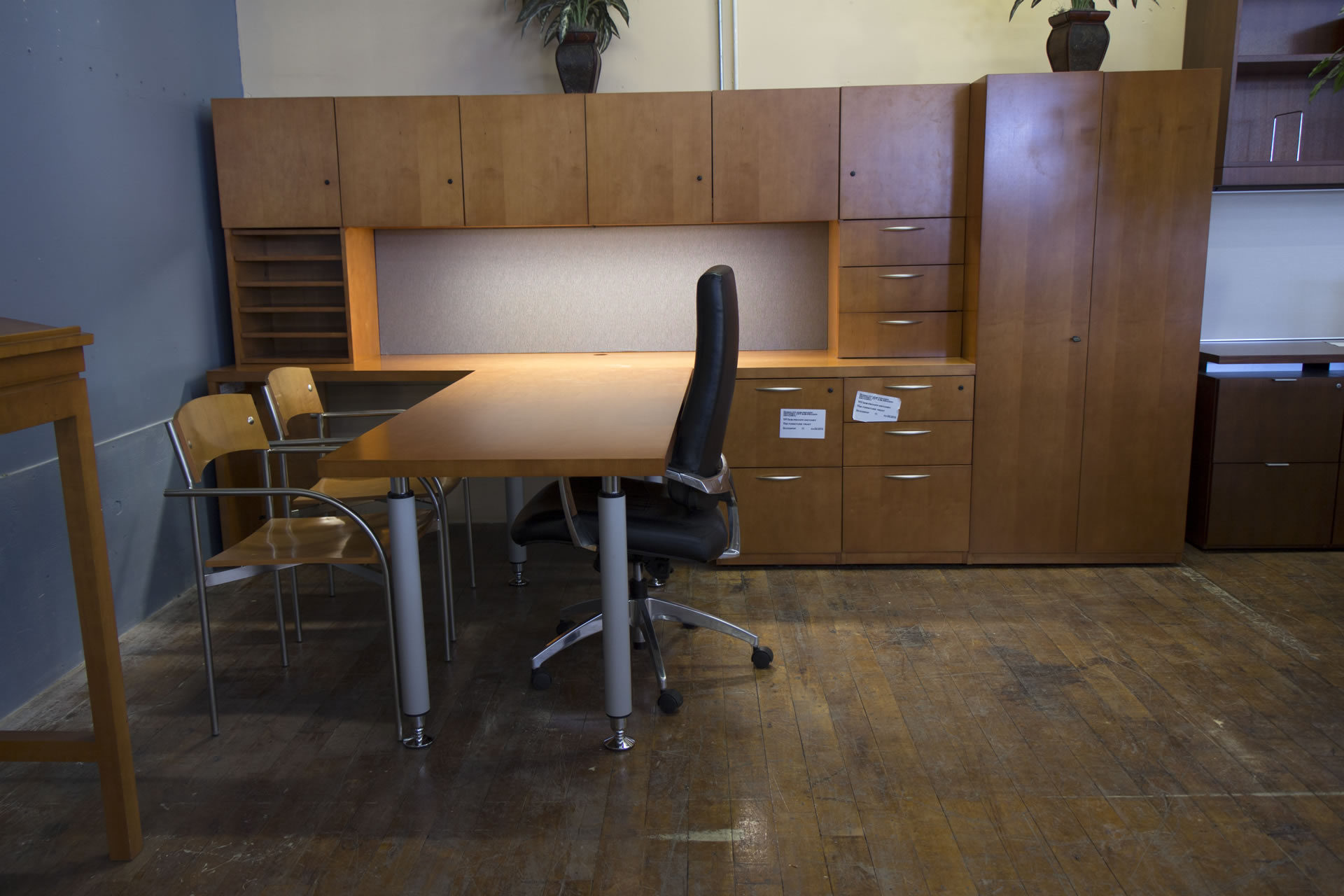 Kimball Footprint Honey Maple Private Executive Office Suites