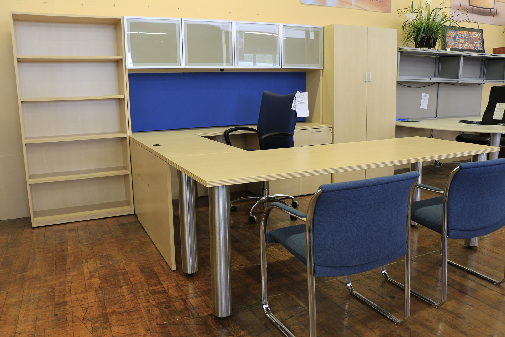 First Office Maple Laminate Executive Suite