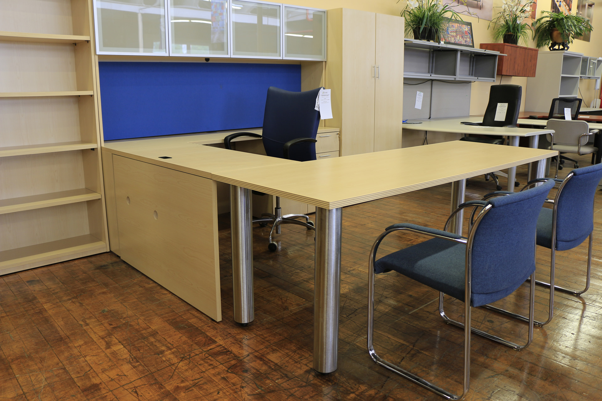 First Office Maple Laminate Executive Suite Peartree