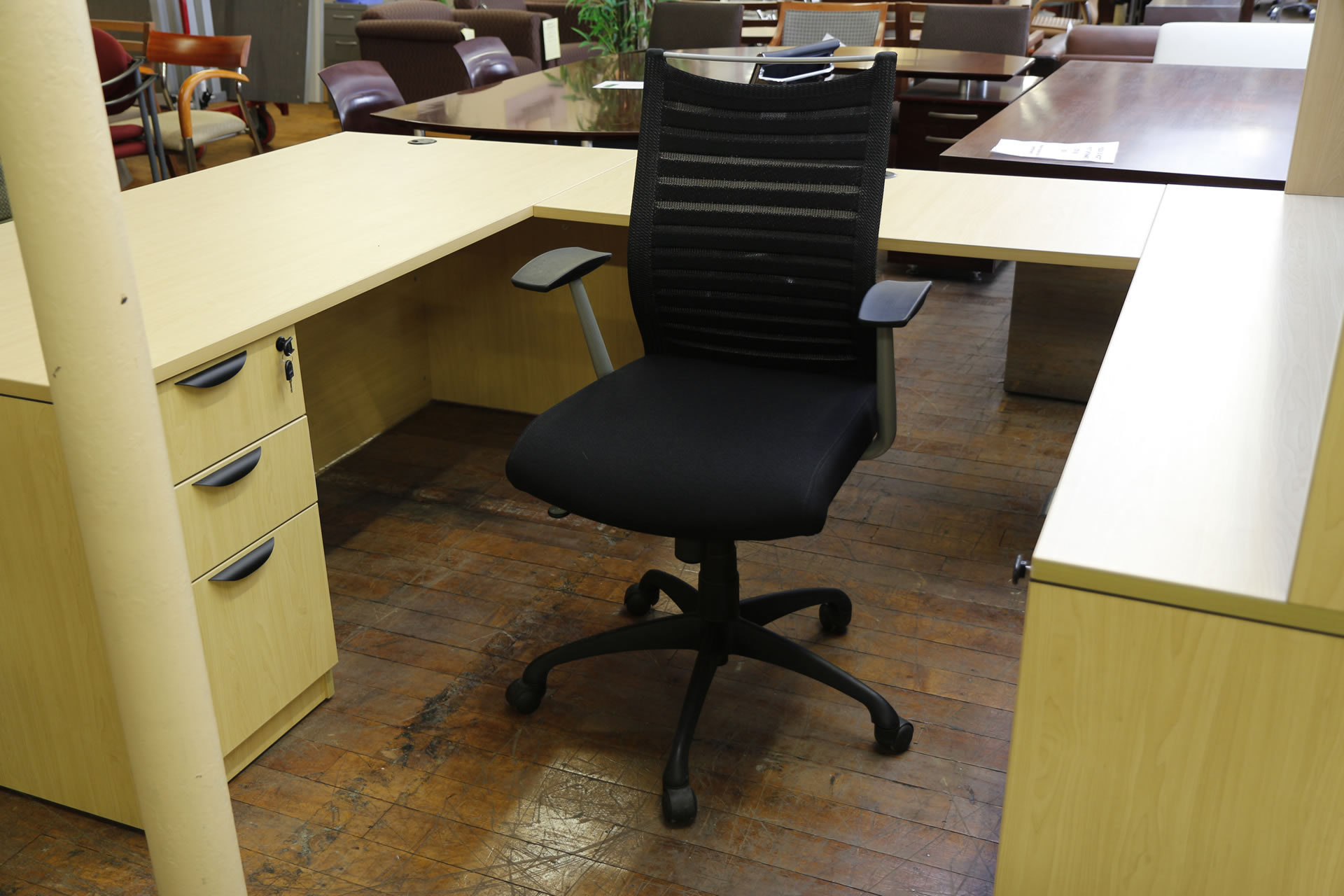 Source International Purl Managerial Black Mesh Task Chairs