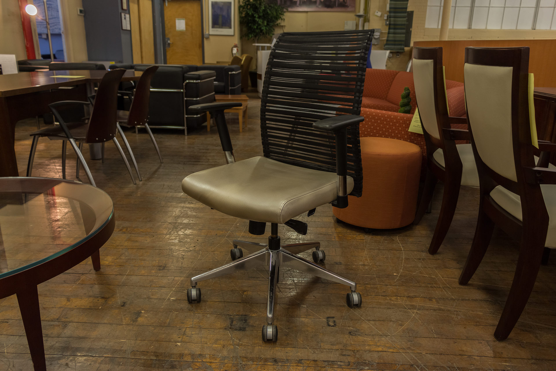 Allseating Zip Mesh Leather CAL-133 Task Chairs