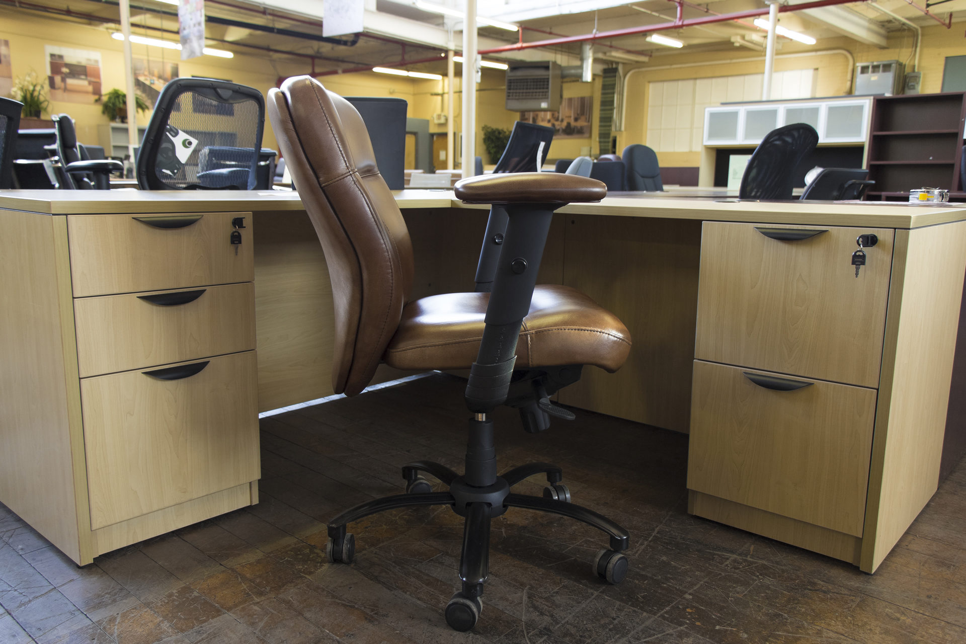 Bradington Young Leather Executive Swivel Tilt Chairs