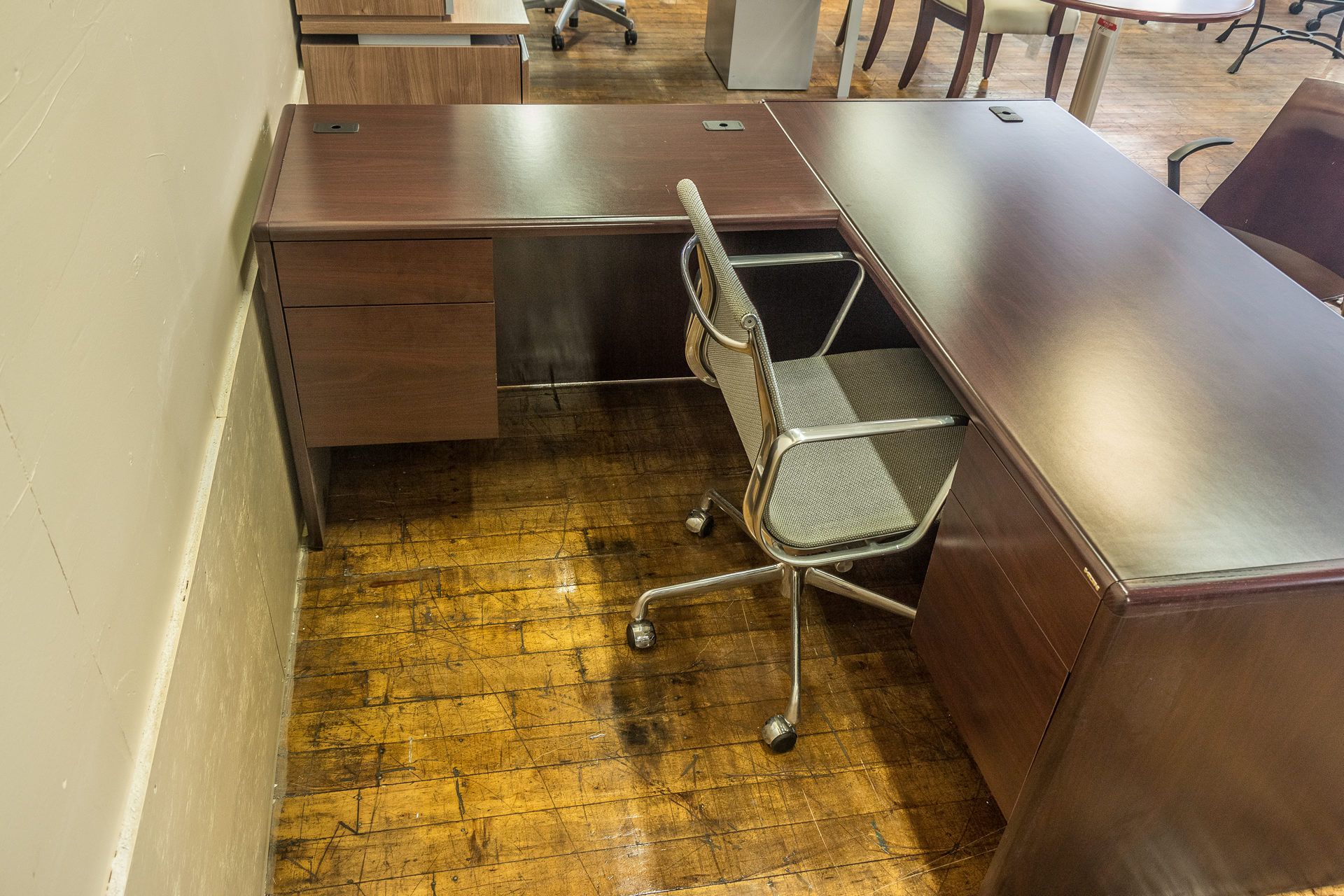Hon Cherry Laminate L-Desks
