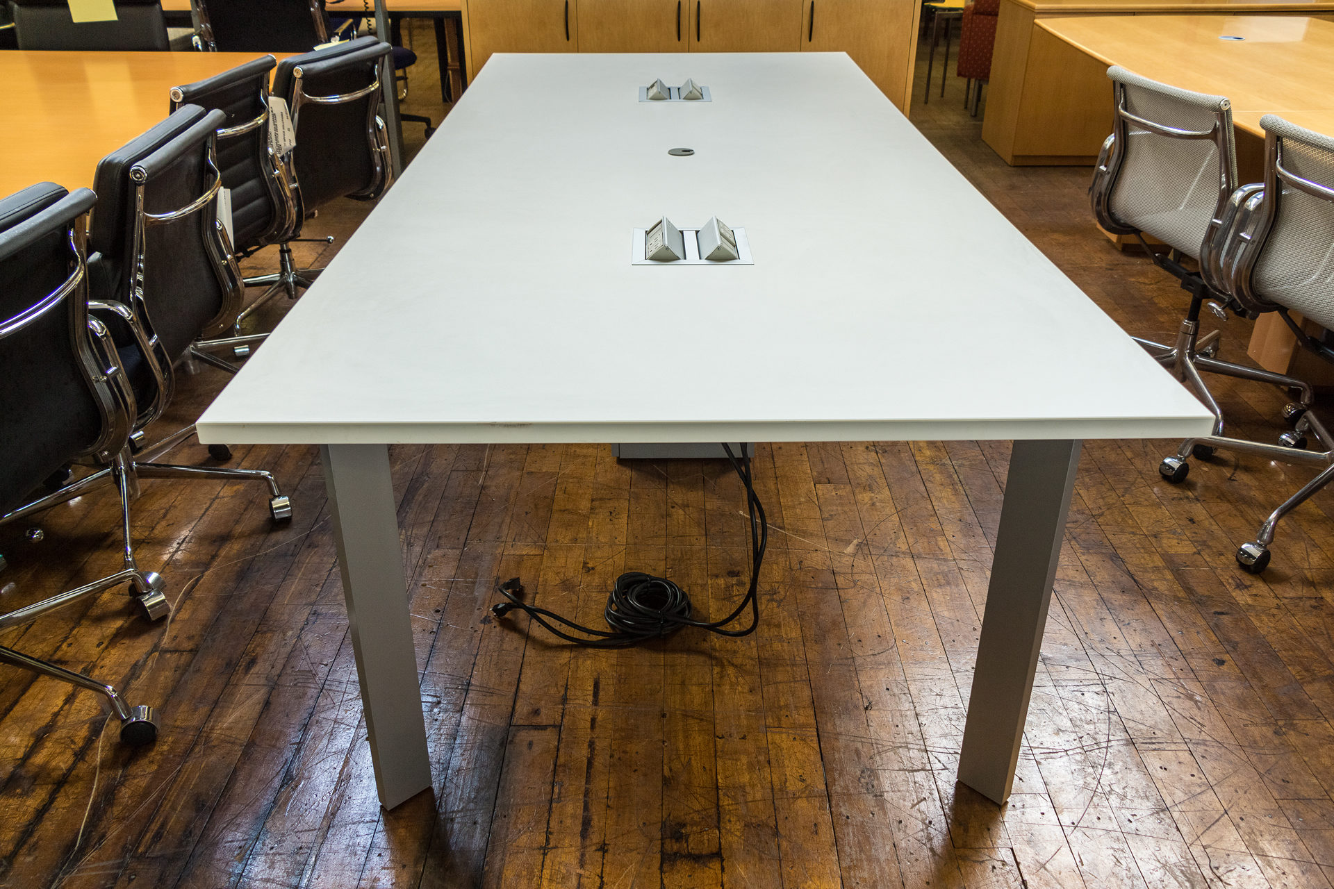 Haworth Planes 9′ x 4′ White Conference Table