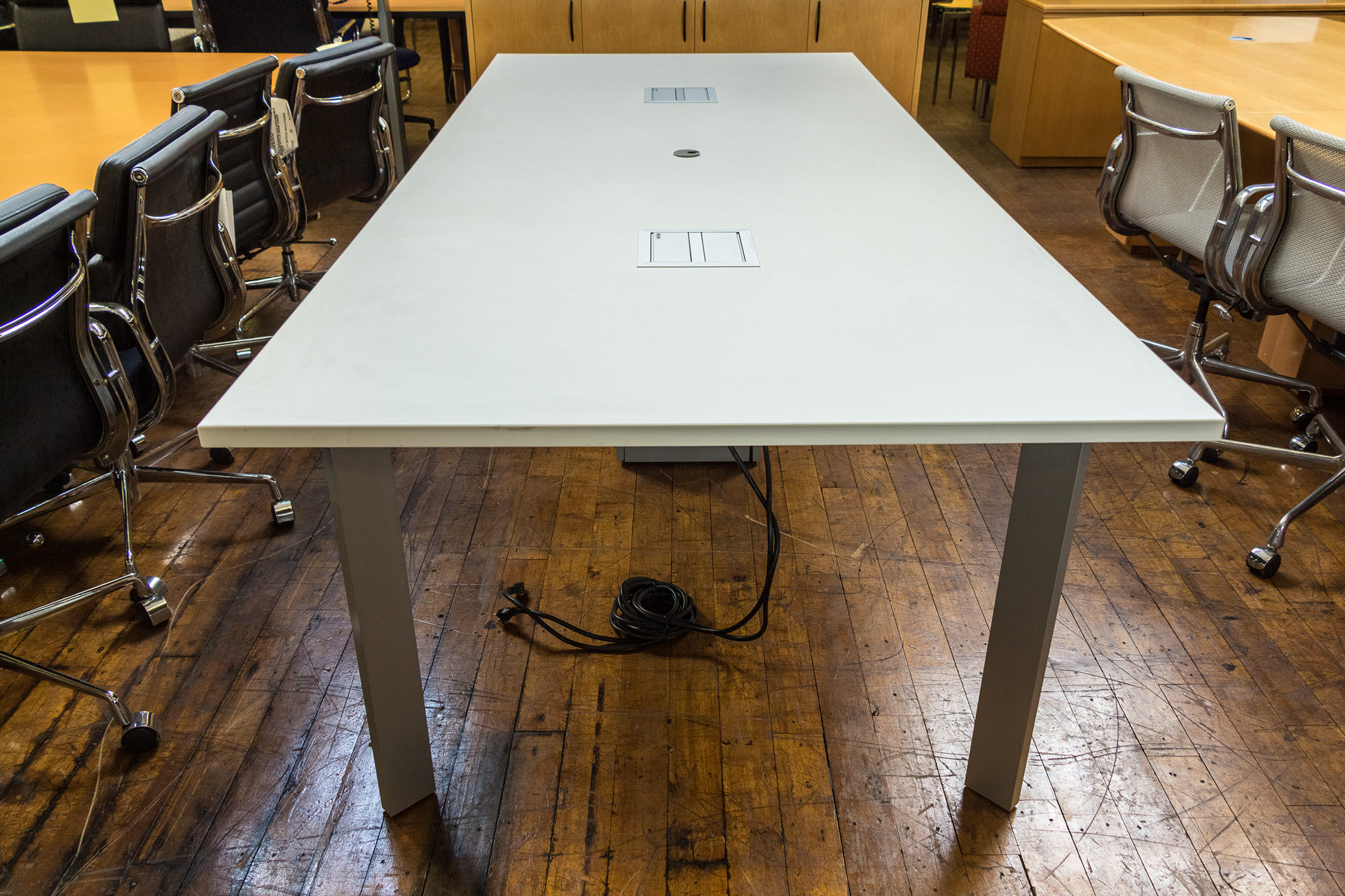 Haworth Planes X White Conference Table Peartree Office - Haworth conference table