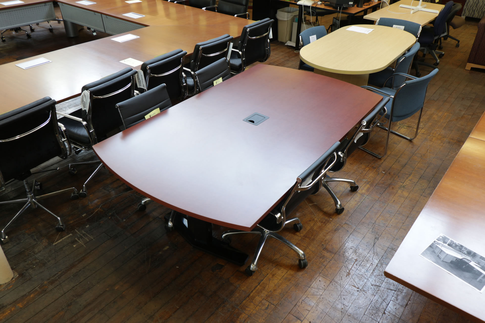 Vecta 7′ Cherry Laminate Conference Table with Power Grommet