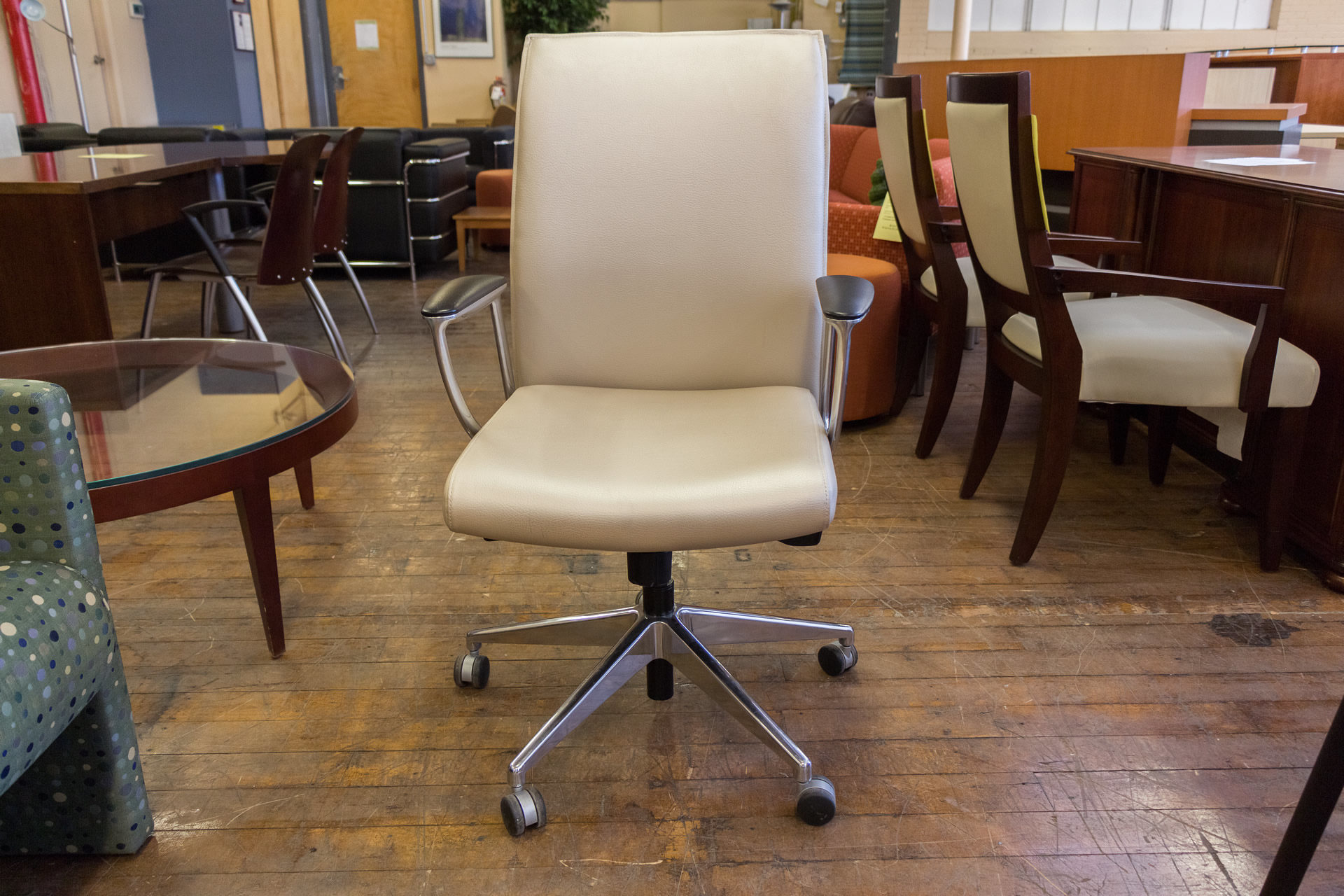 Allseating Zip Instock Midback Leather Conference Chairs
