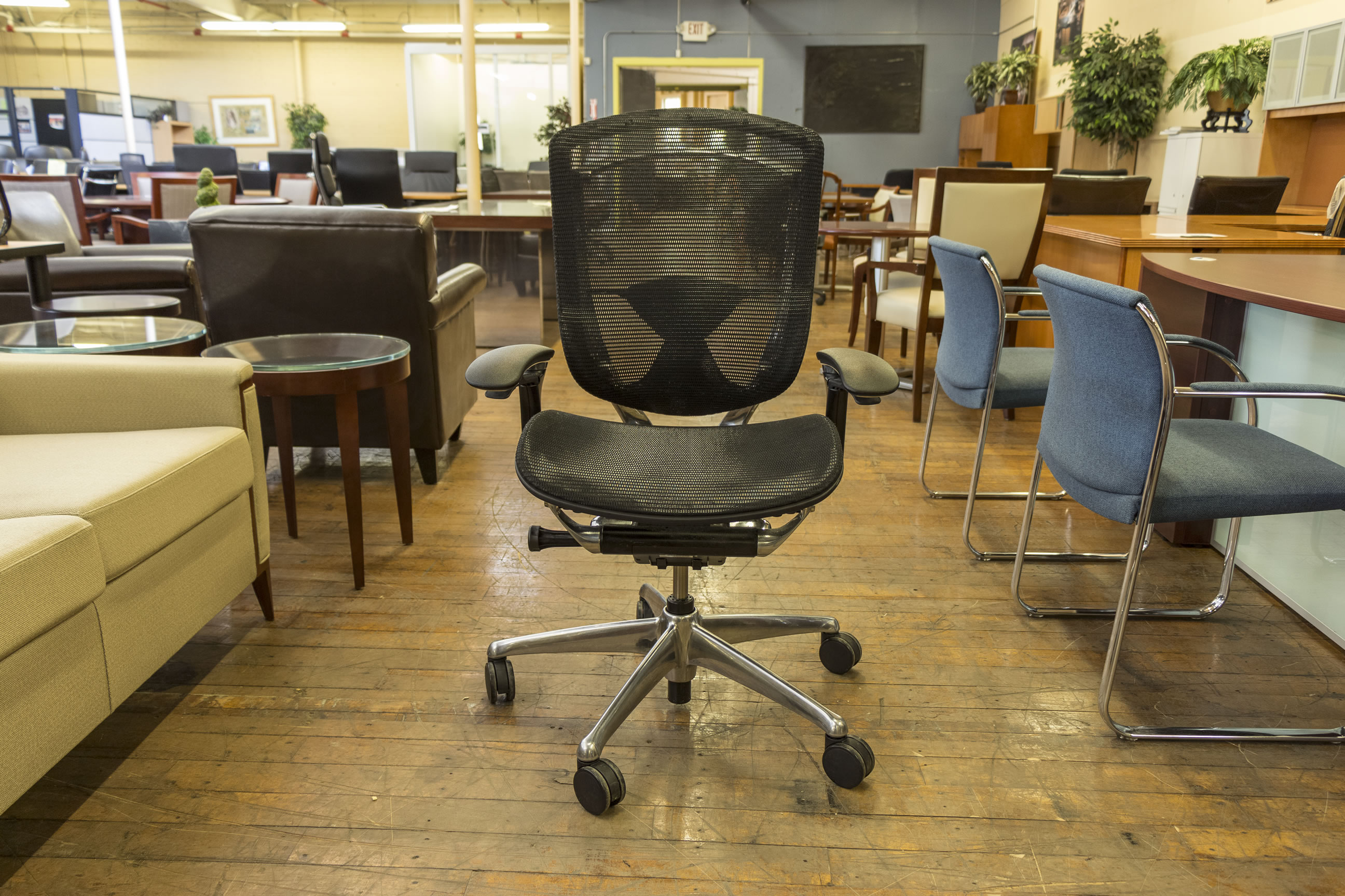 Well-liked Teknion Contessa Black Mesh-Back Task Chairs • Peartree Office  LS35