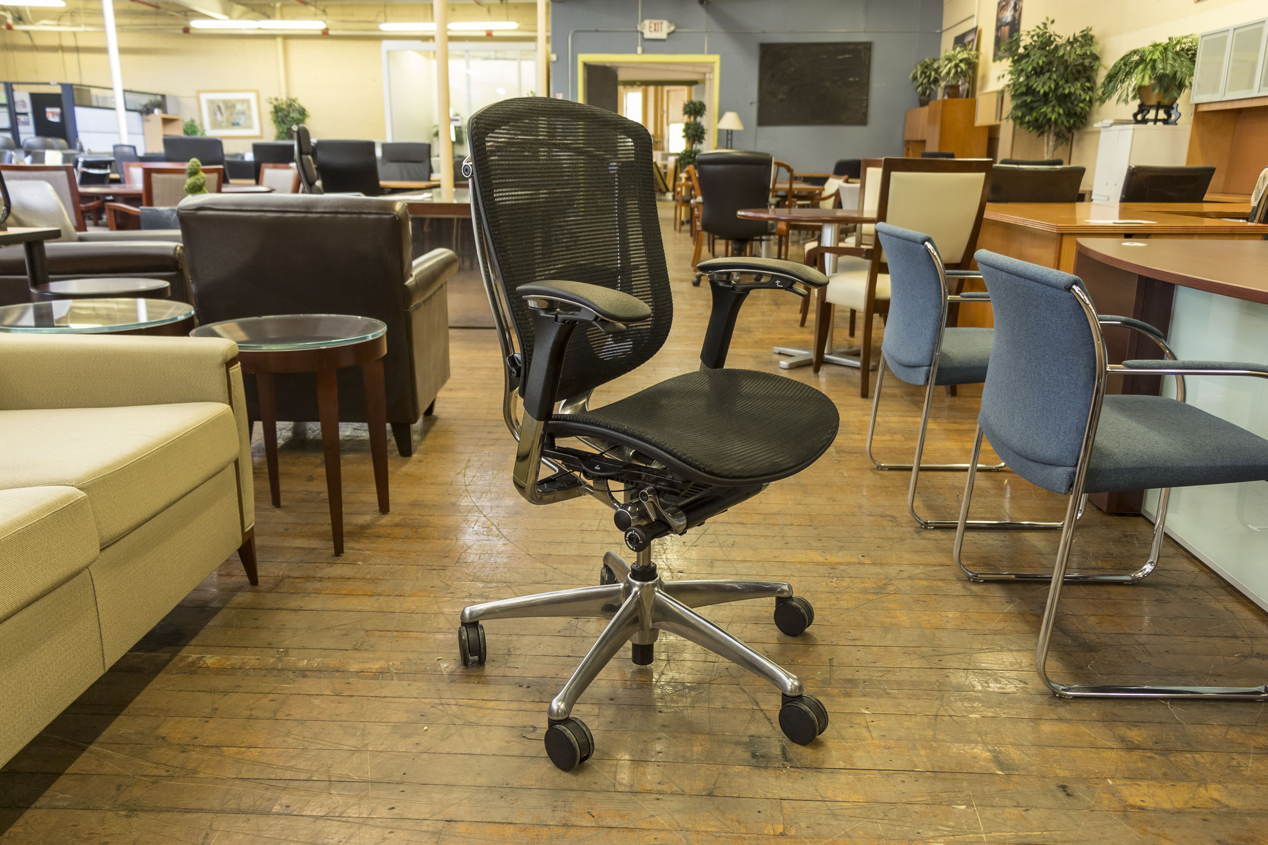 Teknion Contessa Black Mesh Task Chairs O Peartree Office Furniture