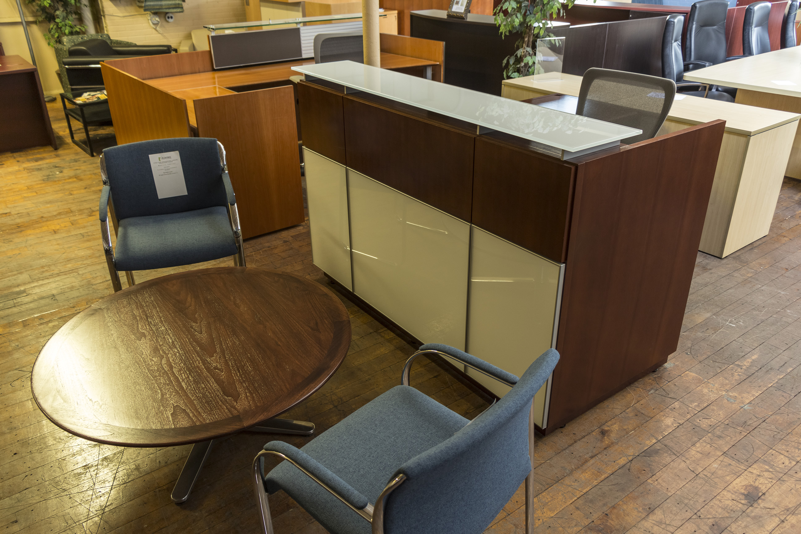 Teknion Medium Cherry Reception Desk Peartree Office Furniture