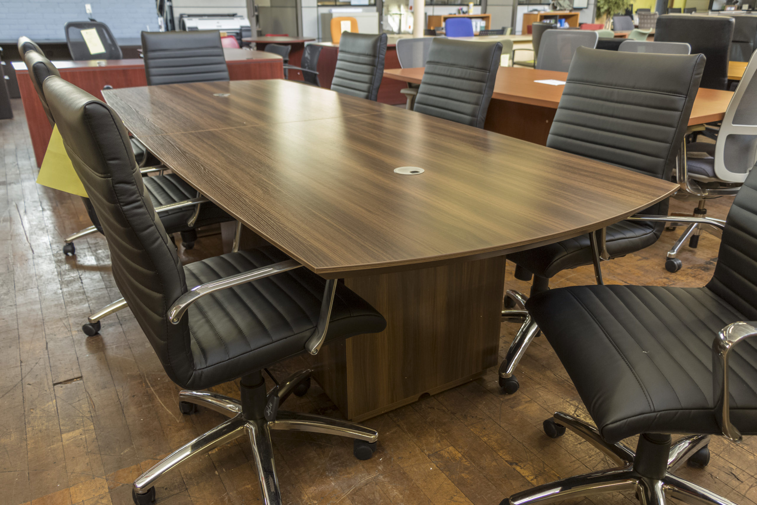 Peartree Sienna Laminate Boat-Shaped Conference Tables