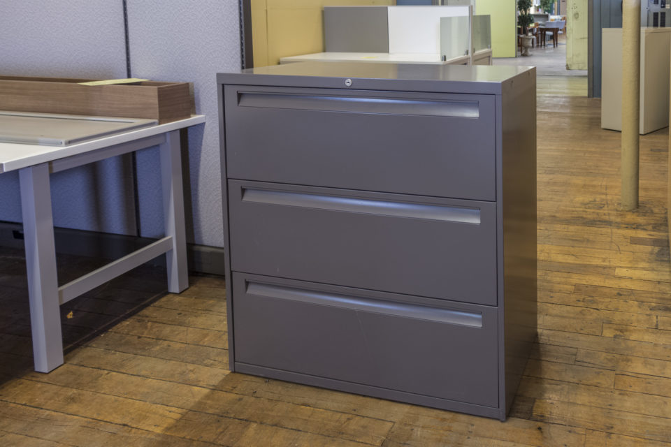 "Steelcase 36"" 3-Drawer Lateral File Cabinets"
