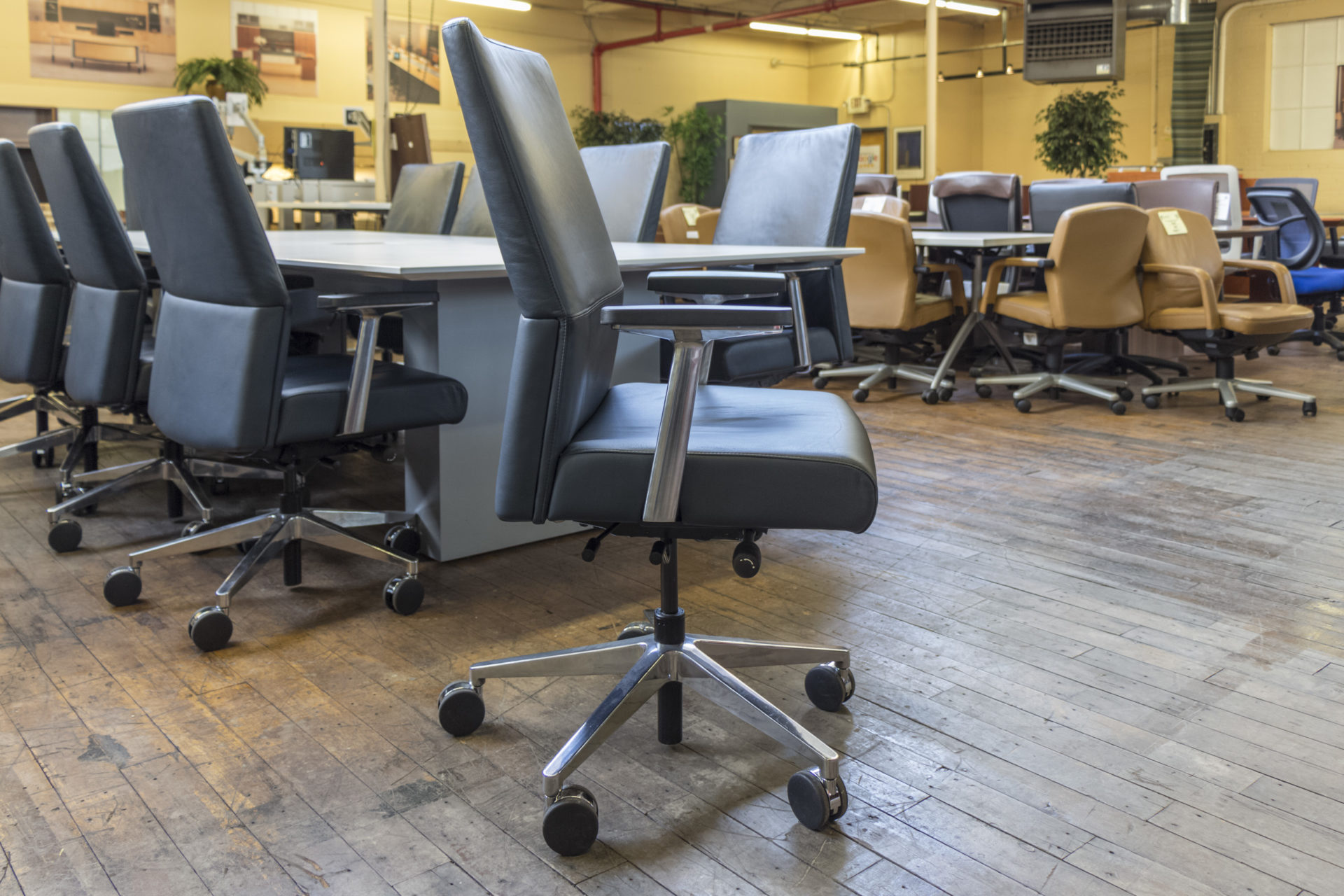 Steelcase Siento Leather Conference Chairs