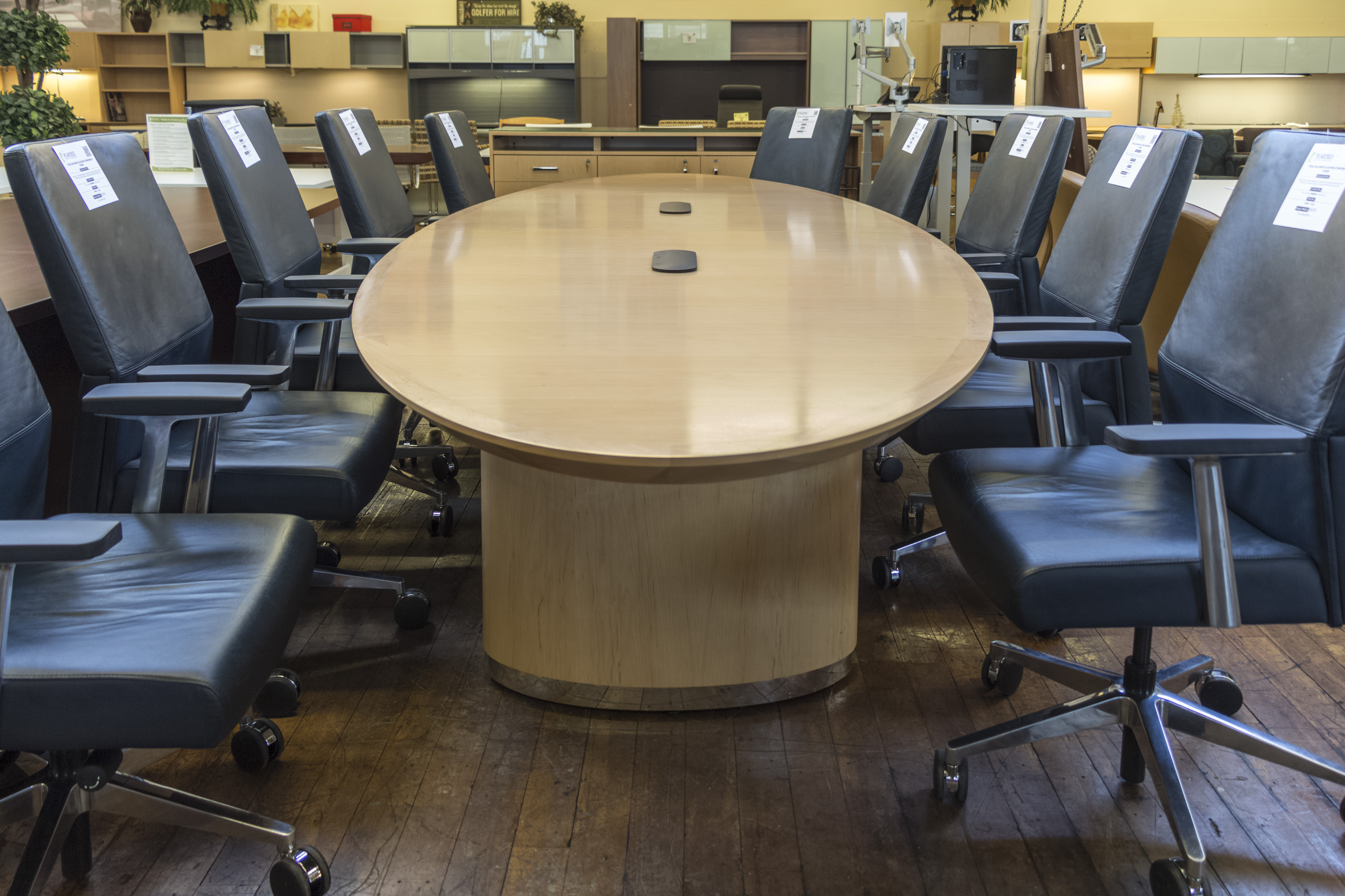 Steelcase Convene Elliptical Conference Table Peartree Office - Elliptical conference table