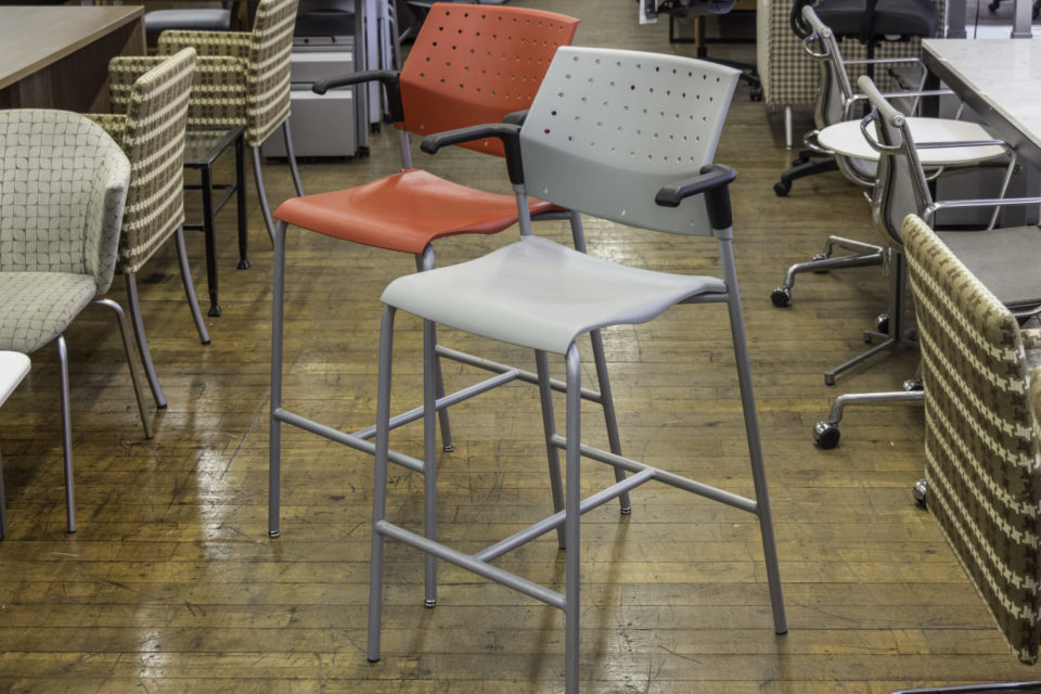 Global Sonic Bar-Height Stool with Arms