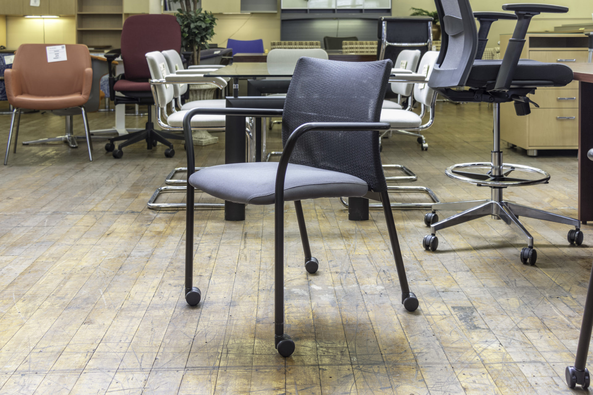 Steelcase Jersey Stacking Guest Chairs with Arms