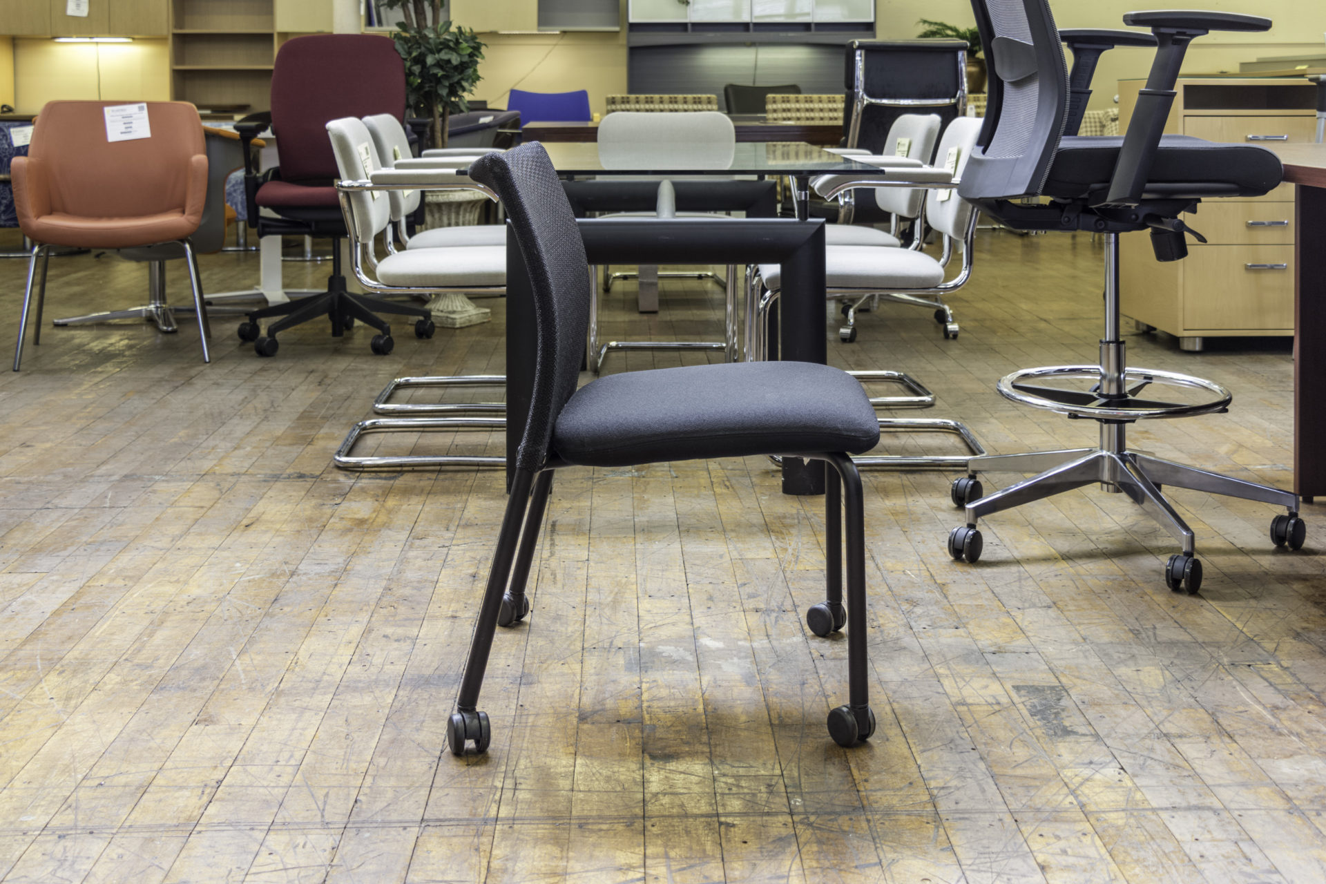 Steelcase Jersey Armless Stacking Guest Chairs