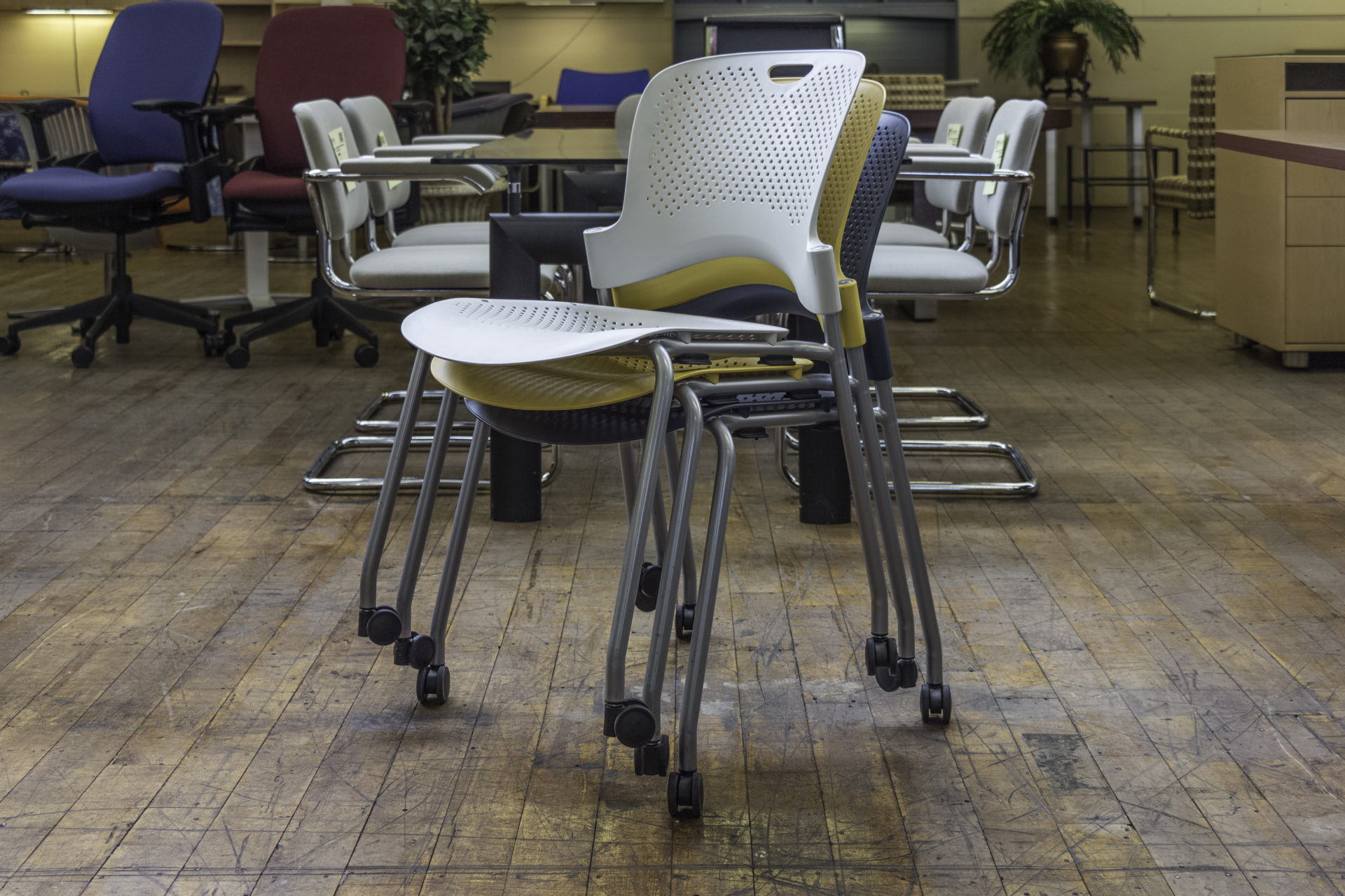 Herman Miller Caper Armless Stacking Chairs