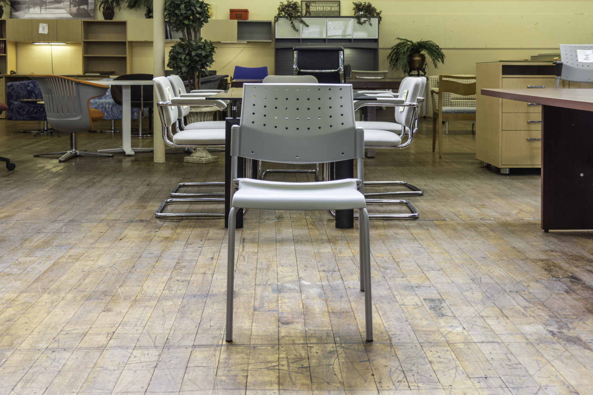 Global Sonic Armless Stacking Chair
