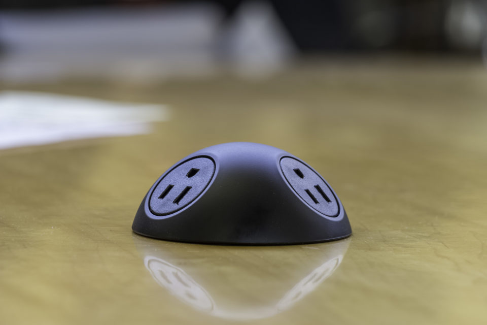 Sphere Conference Table Grommets with Power / USB