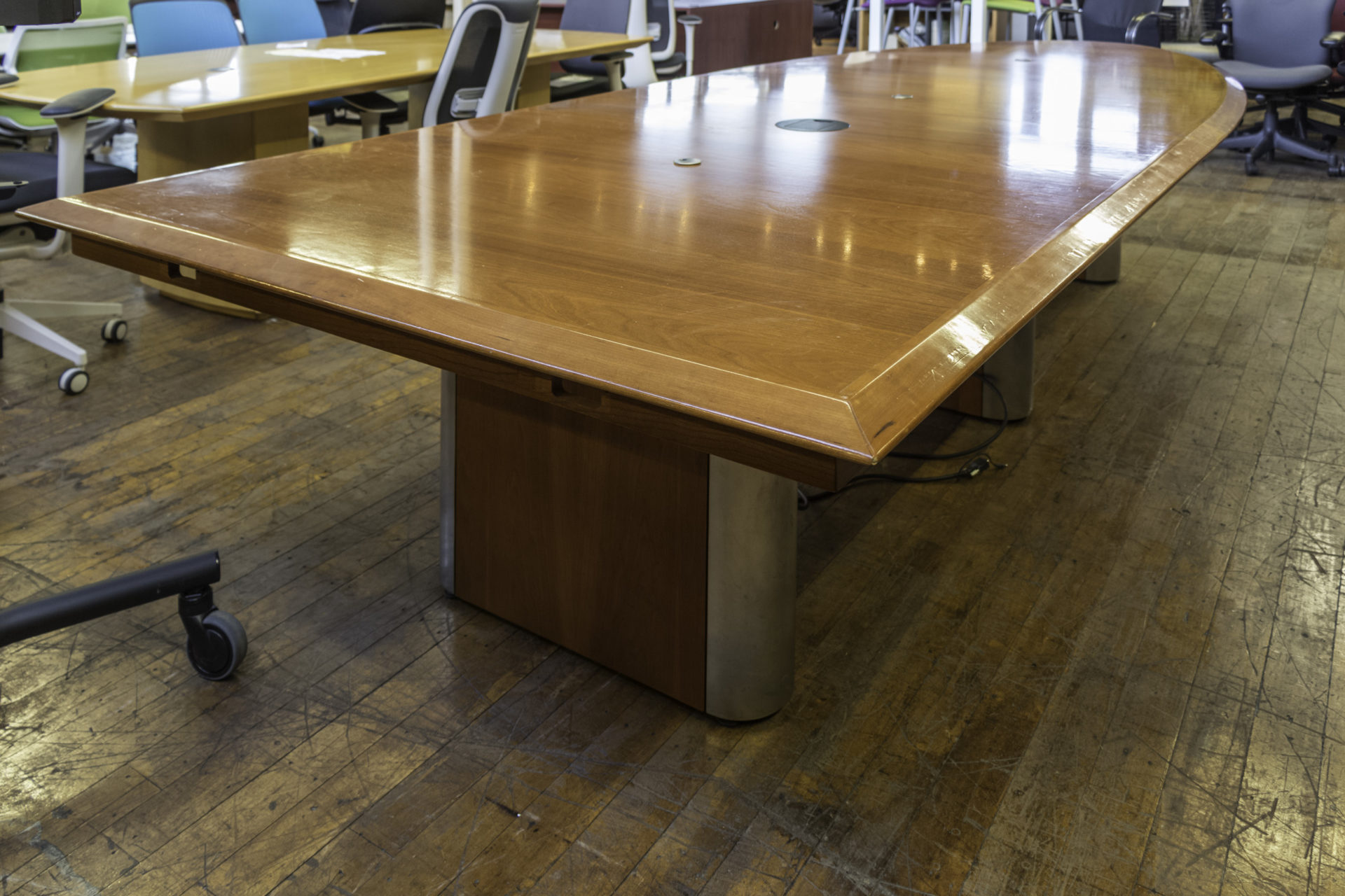 Arnold Contract Half Elliptical Walnut Conference Tables