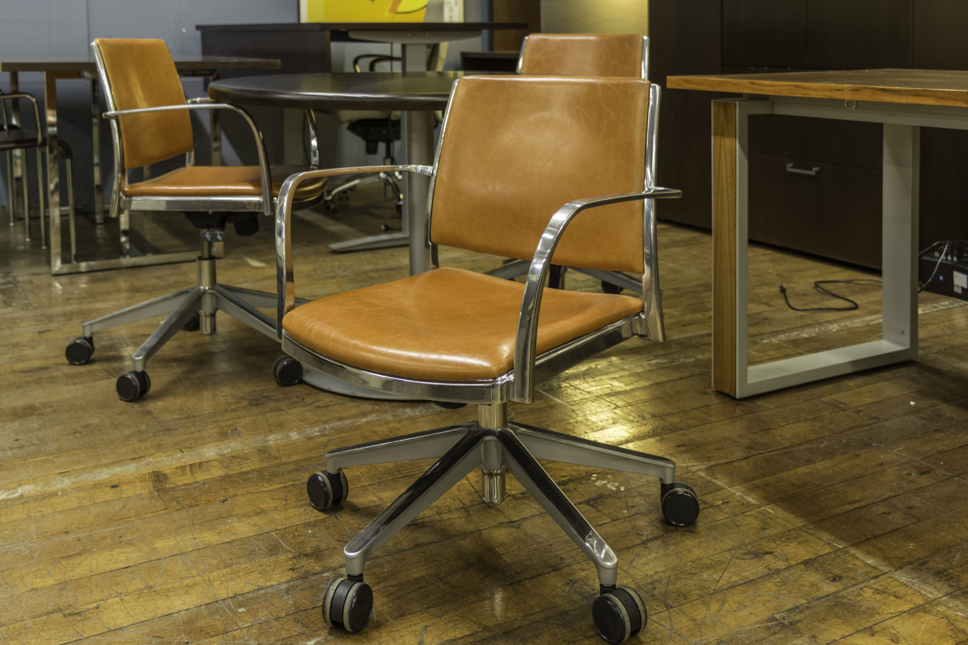 Krug Corfu Leather Conference Chairs
