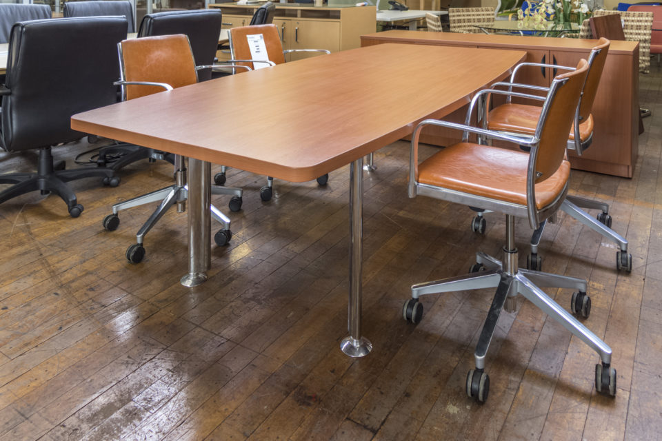 Warren Series 8' Laminate Conference Table with Chrome Legs