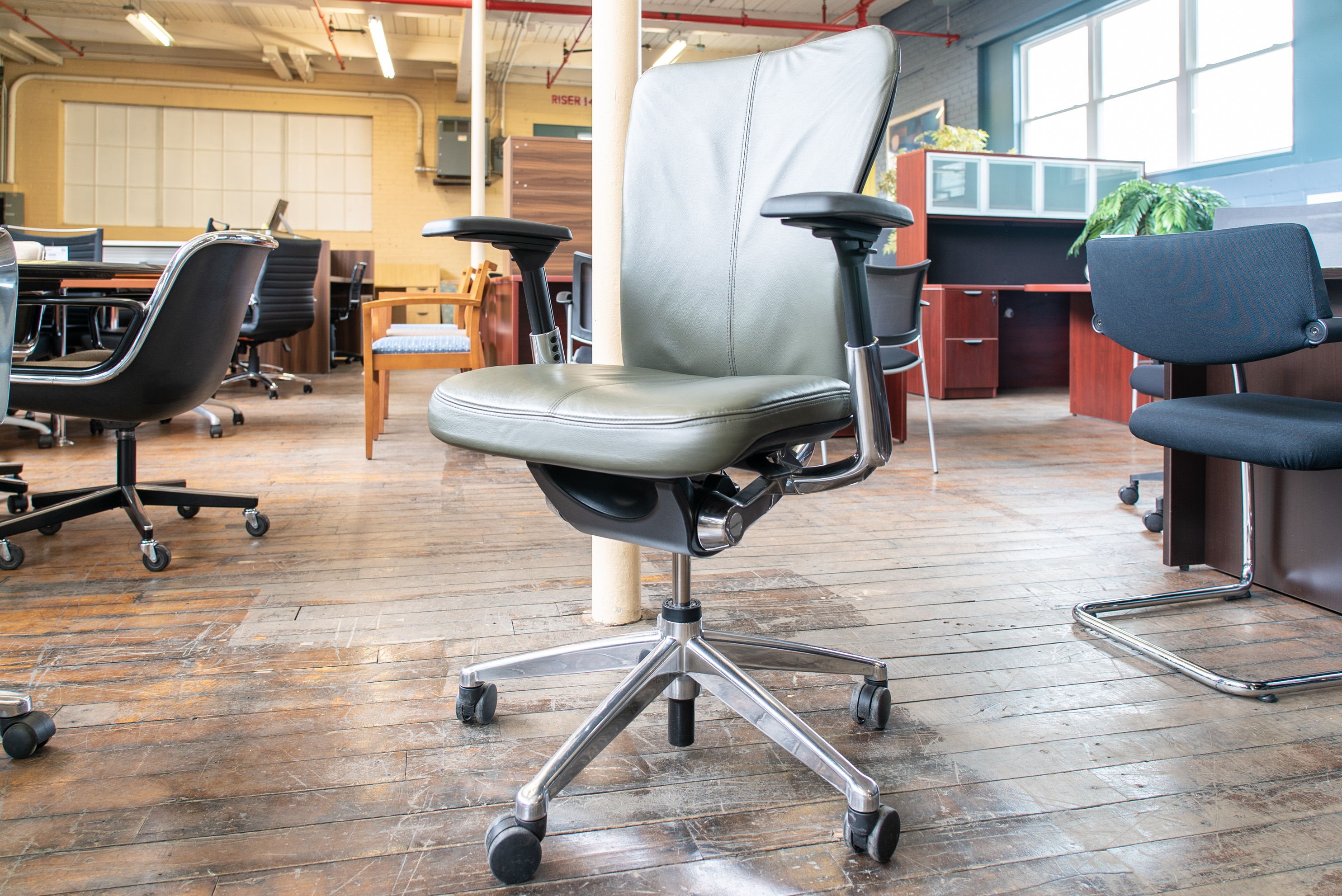Haworth Zody Executive Leather Task Chairs