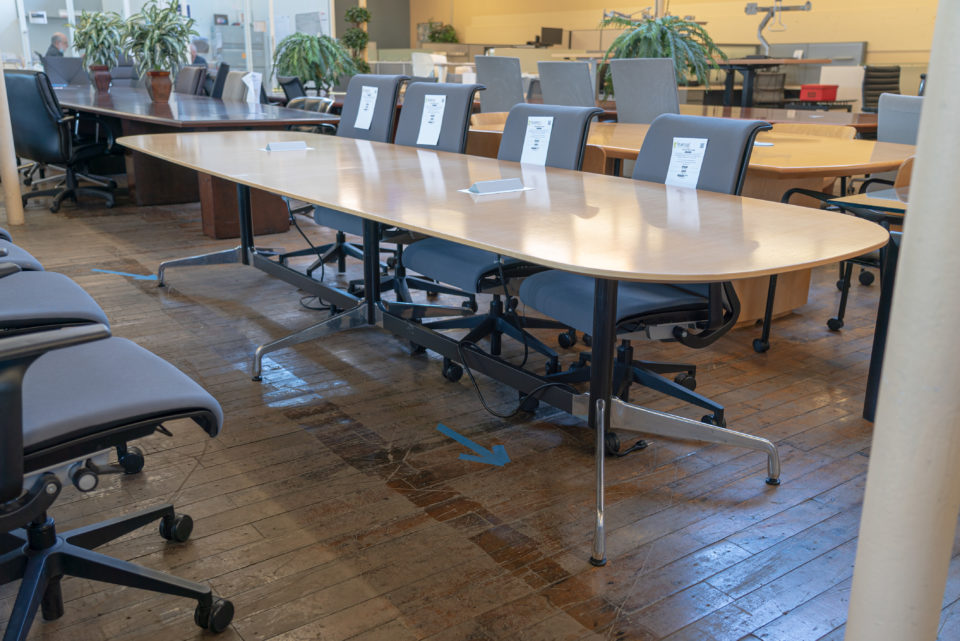 Herman Miller 12′ Eames Boat-Shaped Conference Table