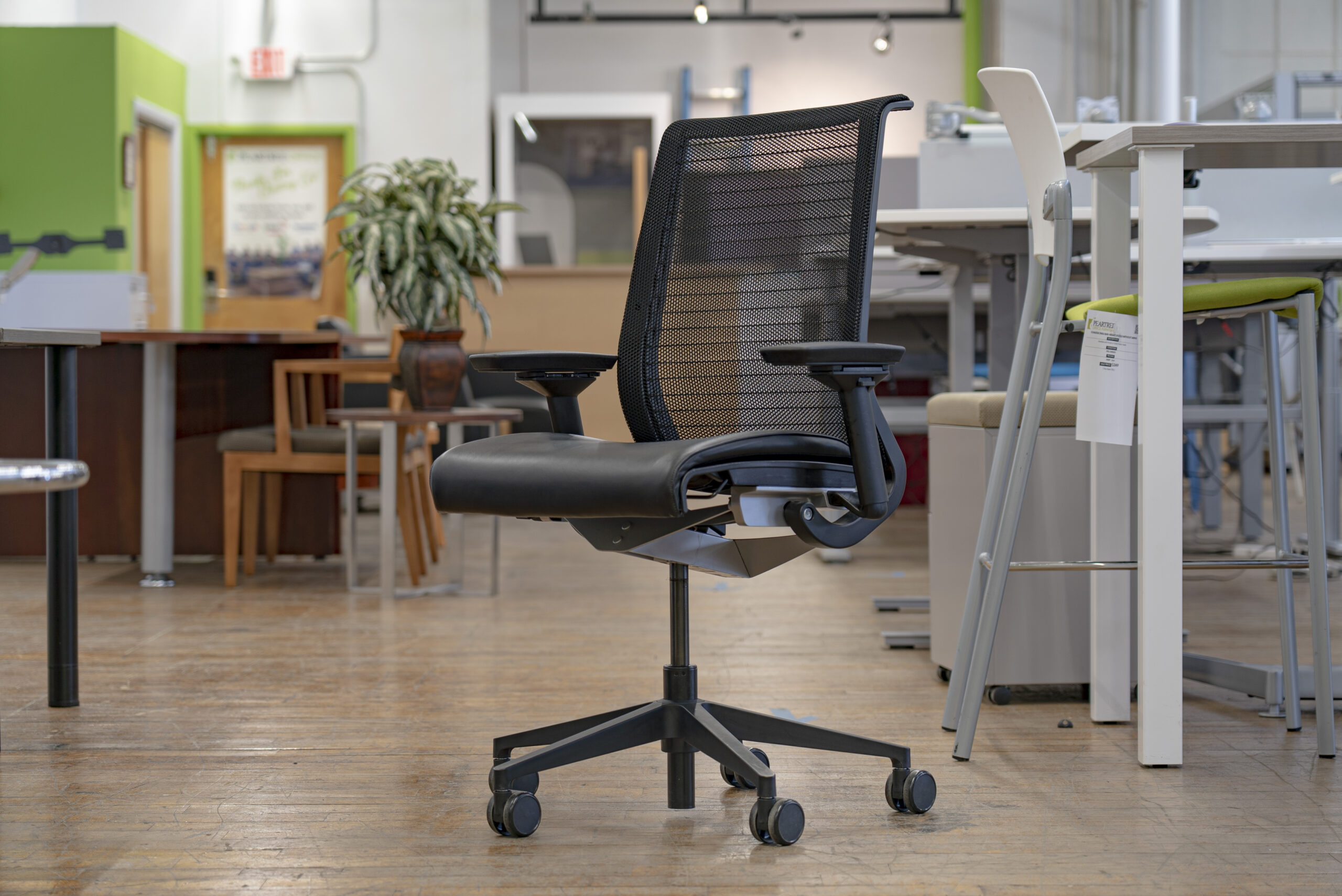 Steelcase Think V1 Mesh Back / Leather Task Chairs