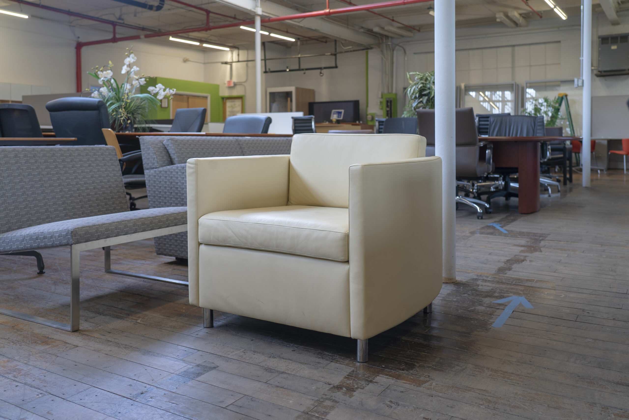 Bernhardt Design Oxford Leather Lounge Chairs